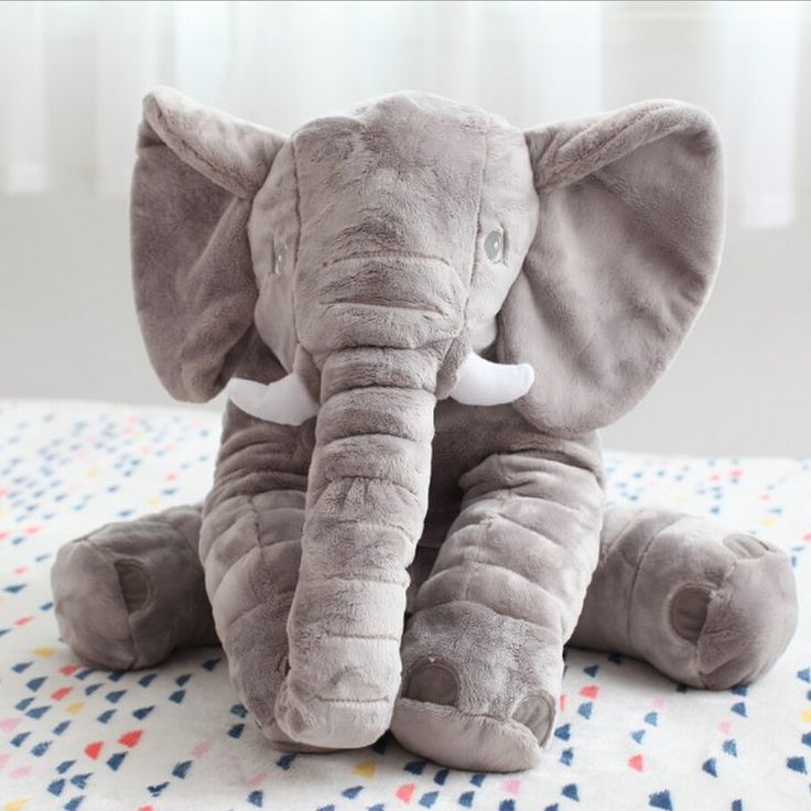 60 cm Fashion Gaya Bayi Hewan Gajah Boneka Boneka Gajah Bantal Mewah Mainan Anak-anak untuk Anak-anak Kamar Tidur Dekorasi Mainan