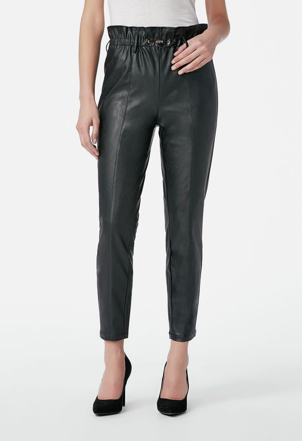 d9d958a41e Faux Leather Trousers in GOLDEN HONEY - Get great deals at JustFab ...