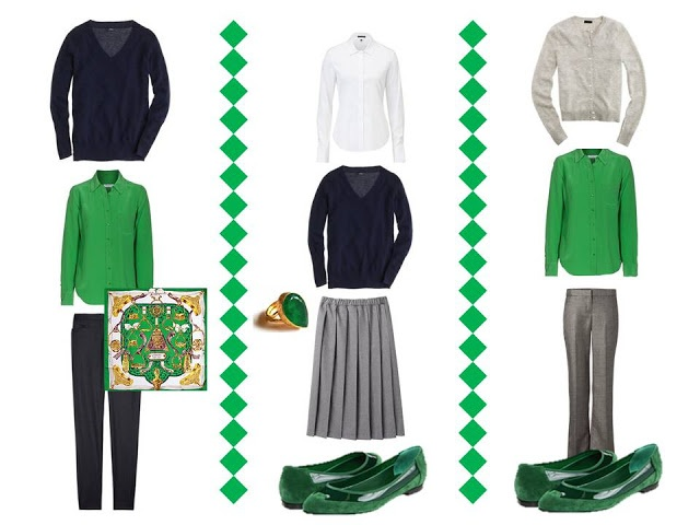 Emerald and the Common Office  capsule Wardrobe from The Vivienne Files