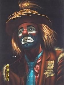 Pictures of Vintage Sad Clown Painting - #rock-cafe