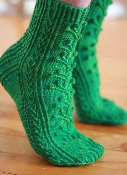 A Pair of Pretty Green Socks ....