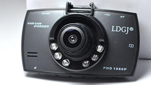 2.7 inch Full HD 1080P Car Vehicle Camera DVR with 170 Degree Wide Angle Lens  6 LEDs Night Vision  G-sensor  High Resolution Car Camera Dash Cam Driving Recorder by LDGJ