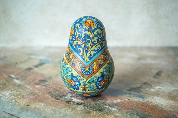 Hand Painted Matryoshka Roly Poly Doll by nordfolk on Etsy
