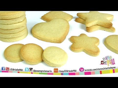 Receta Galletas Para Decorar / Cookie For Decorating Recipe - YouTube