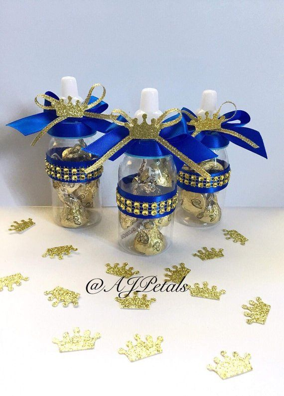 Baby Bottle Favors,Royal Prince Baby Shower Favors 24 small 4 Royal baby shower bottles,Baby Shower Favors
