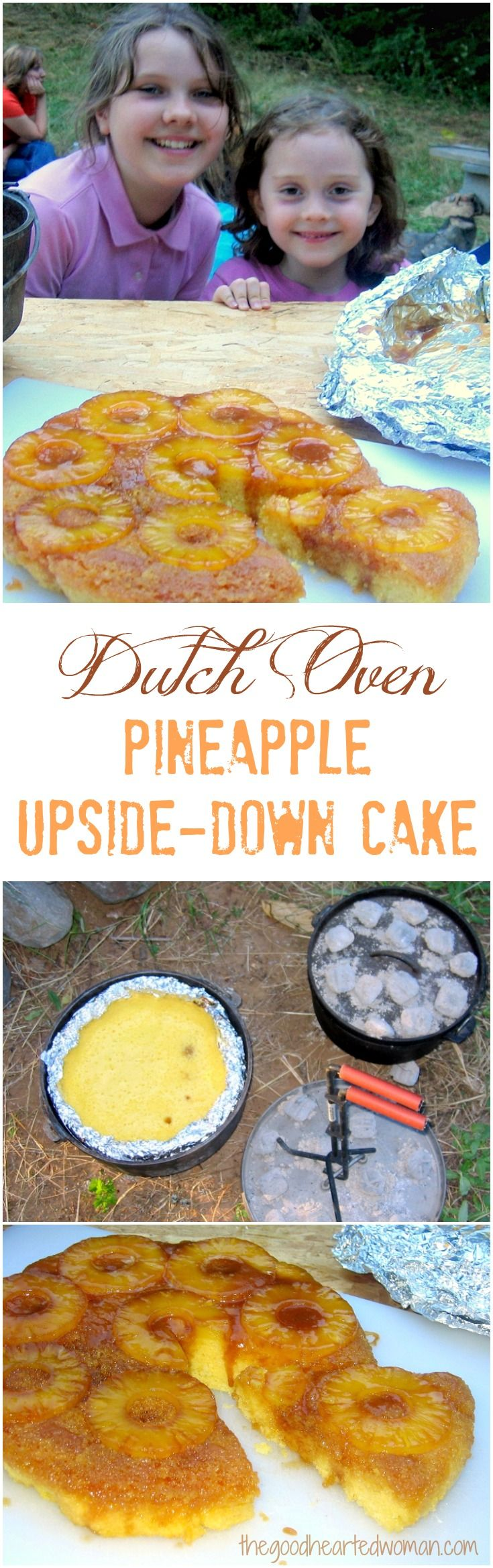 How to Make Dutch Oven Pineapple Upside-Down Cake {Easy Tutorial} | The Good Hearted Woman
