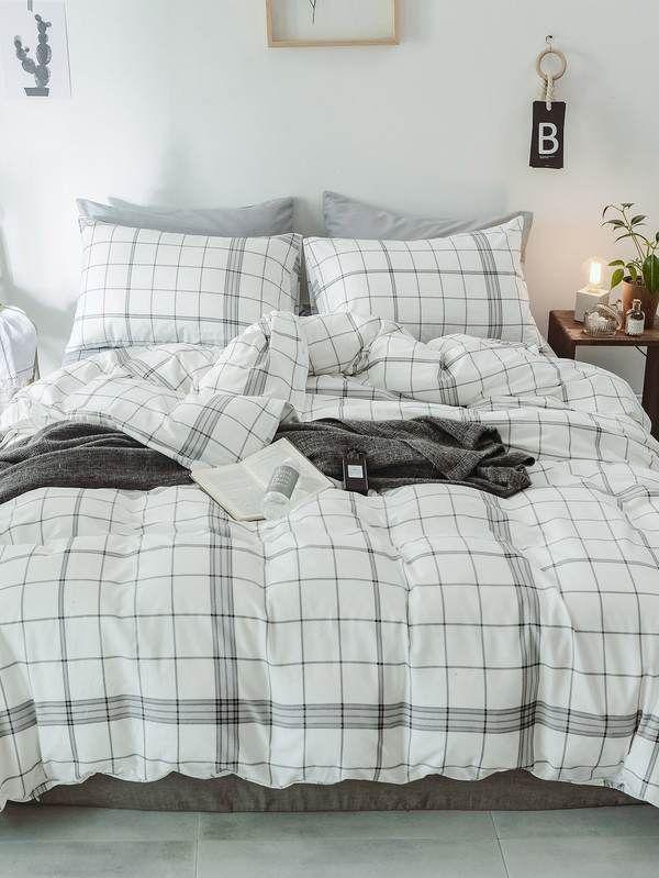 018b337674 Plaid Print Sheet Set in 2019 | Popviva | Bedding Sets