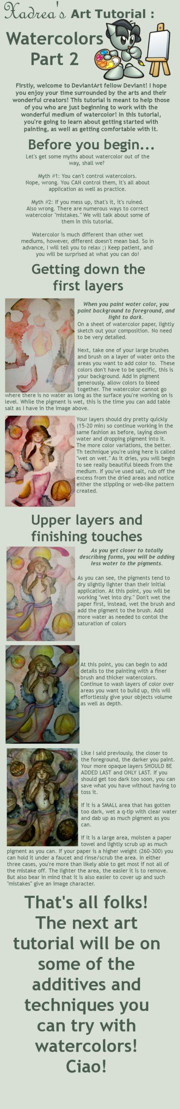 This is the second in the watercolor tutorial series! If you have any other questions, feel free to ask!