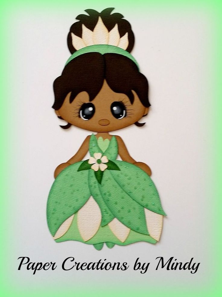 Craftecafe Mindy Princess Tiana Premade Paper Piecing for scrapbook page album