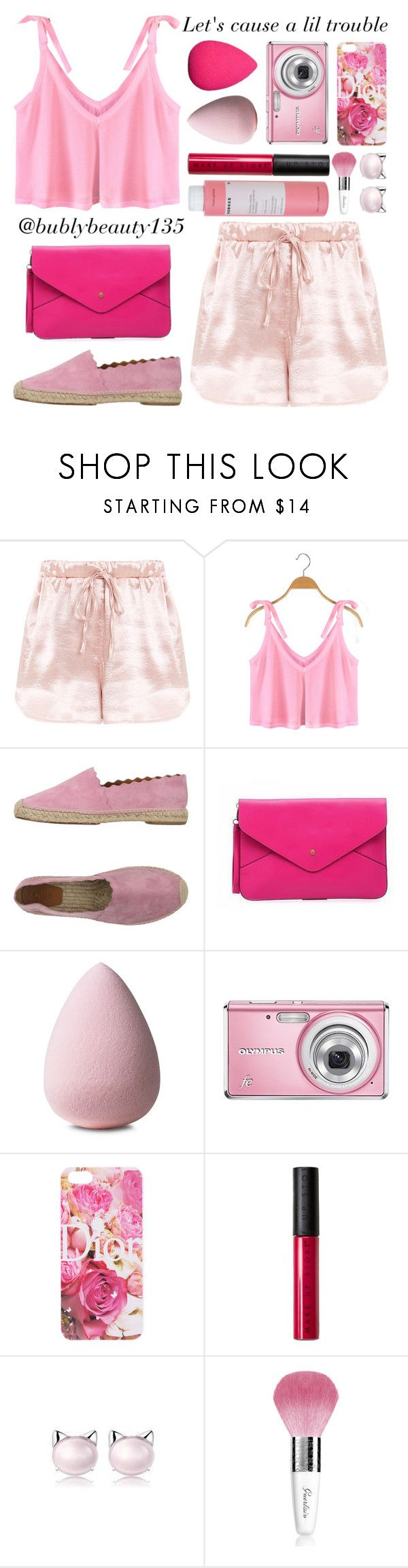 """Let's cause a lil trouble"" by bubblybeauty135 ❤ liked on Polyvore featuring Chloé, QeQ, MAKE UP STORE, Belec, Guerlain and Korres"