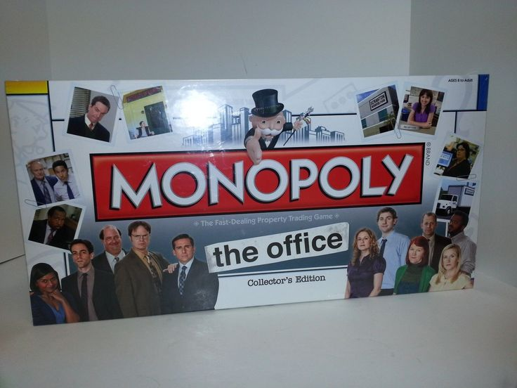 Monopoly The Office Collectors Edition Plus 6 collectible Tokens Retired New - 1970-Now