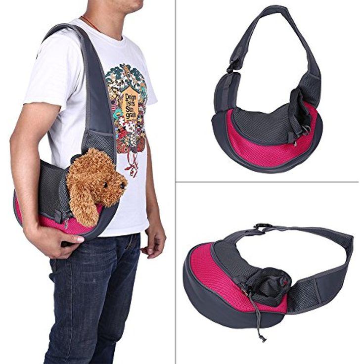 BreaDeep Portable Pet Dog Cat Puppy Carrier Outdoor Shoulder Bag Breathable  Mesh Travel Tote Sling Backpack 3ce8afe39