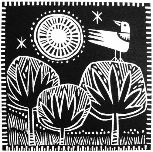 Nightbird by Jane Walker, 15 cm x 15 cm