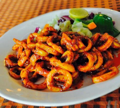 Indian Cooking: Stir Fried Calamari Rings. Squid dish. Seafood Recipe.Calamari Dry. Calamari Masala.