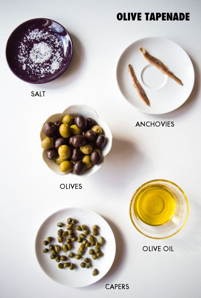 Easy Olive Tapenade / mygutfeeling.eu - ORIGINAL FRENCH TAPENADE RECIPE: Toss all the ingredients into a food processor. Blend until a thick paste forms and use (at least) in 5 different ways! VEGAN: omit the anchovies