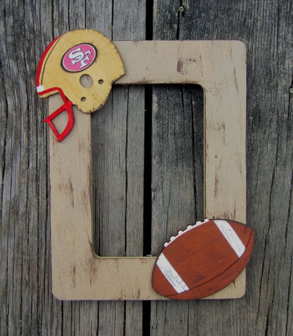 Football Team Picture Frame  Hand Painted Wood  by BirchTreeKids, $39.99