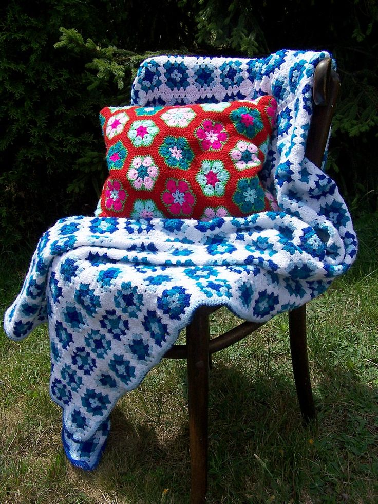 handmade crochet cushion cover cushion African Flower