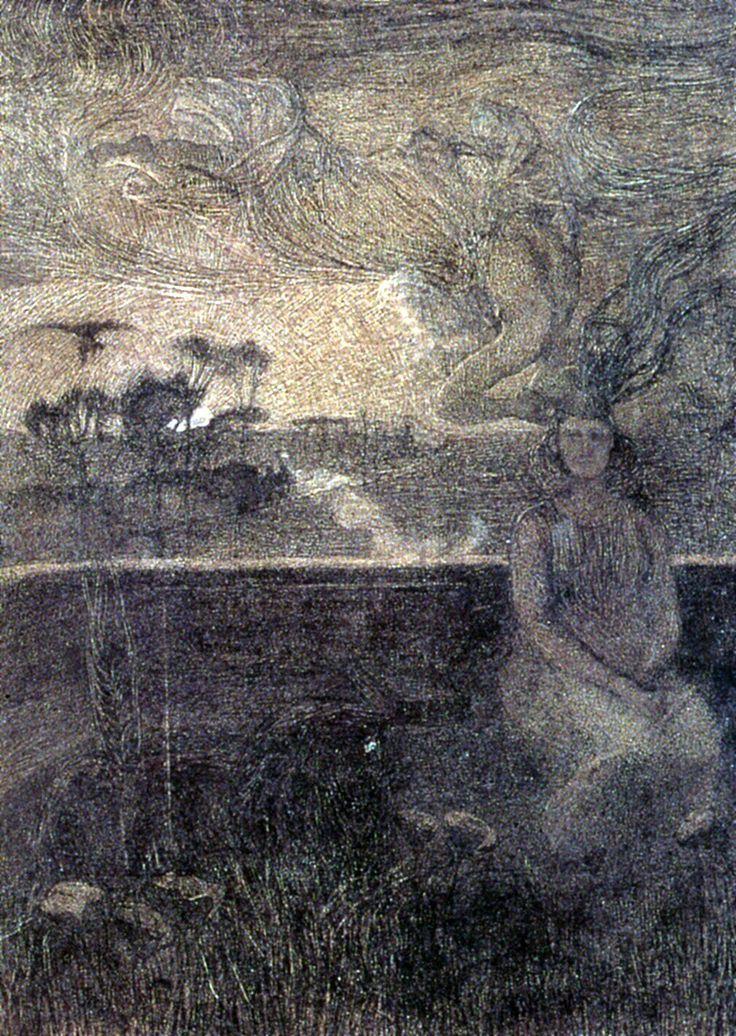 Giovanni Segantini, The Annunciation of the New World