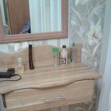 Моё. Самодельный туалетный столик. Срощенный дуб, покрытый маслом