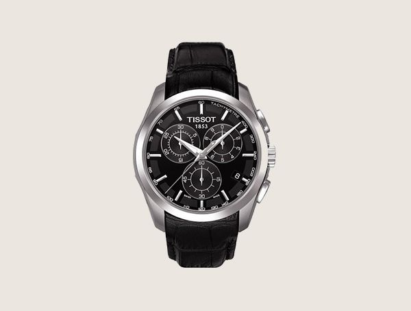Tissot Couturier T0356171605100 Black Leather Swiss Quartz With Black Dial Nice Watches For Men