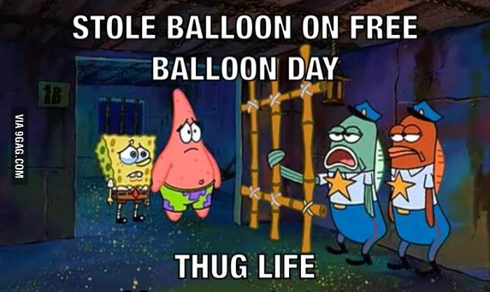 Spongebob - free balloon day