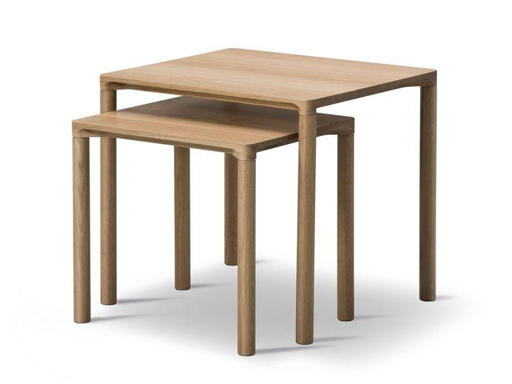 Rectangular oak coffee table PILOTI by FREDERICIA FURNITURE design Hugo Passos
