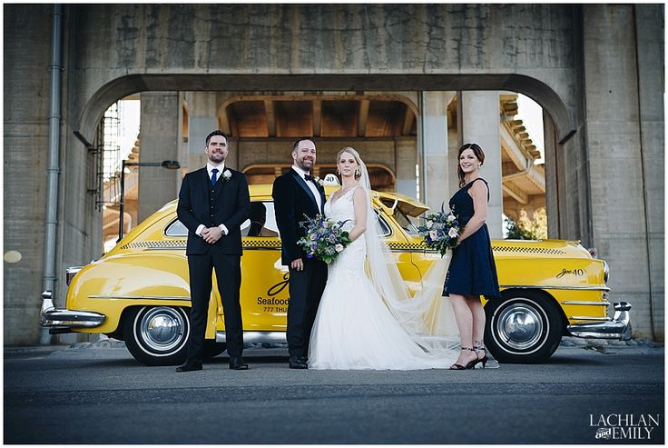 Vancouver Wedding Photography Granville Street Bridge Joe Fortes Seafood & Chop House