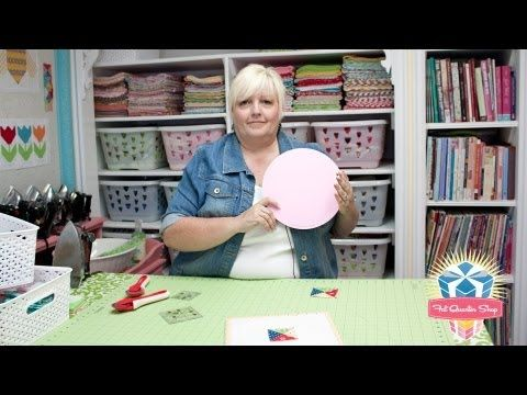 """Watch Lori Holt of Bee in my Bonnet demonstrate the Busyfingers 10"""" Rotating Cutting Mat - Fat Quarter Shop YouTube Channel"""