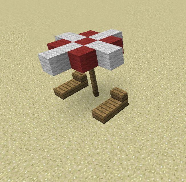 Minecraft Beach Umbrella And Chair