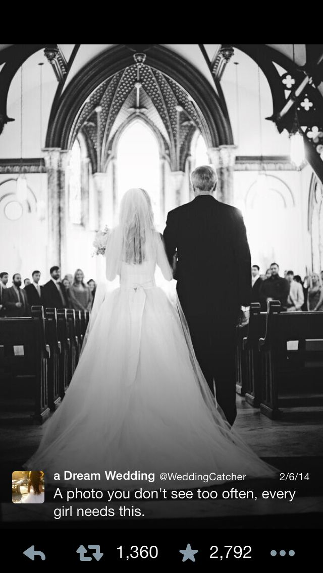 Dad down the aisle