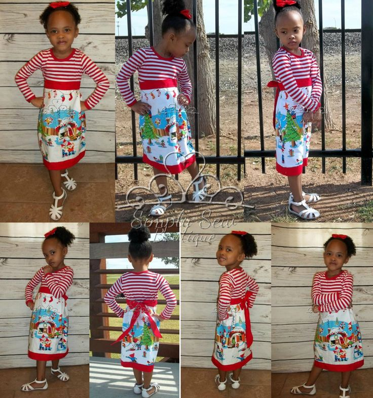 Custom Girls Toddler Holiday Christmas The Gnomes are here Dress 2T 3T 4T 5T 6x by SSBSimplySewBoutique on Etsy