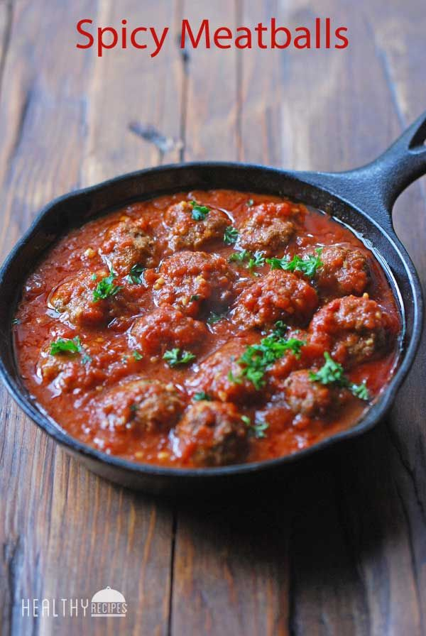 These delicious, middle-eastern-style spicy meatballs are boldly flavored with garlic, cumin, paprika and cayenne.