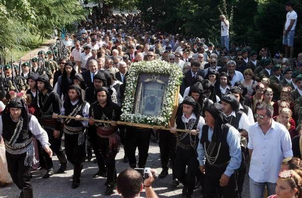 e-Pontos.gr: Λιτανεία της Ιεράς εικόνας της Παναγίας Σουμελά στ...