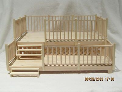 Dollhouse Patio 2 Tier Deck 1 12 Scale Ooak Handmade Real