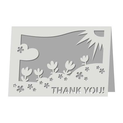 "Download Free ""Thank you!"" card SVG File 
