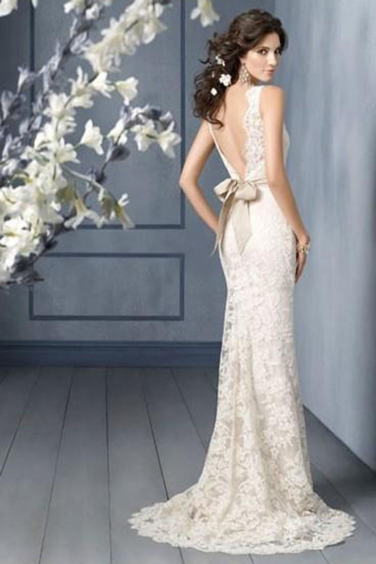 Hot Selling Wedding Dresses Trumpet/Mermaid V Neck Chapel Train Lace; this. this will be my dress