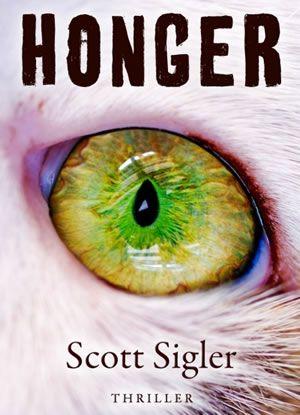 Honger van Scott Sigler is een thriller vol actie en humor. Hoewel je om de oren wordt geslagen met biogenetische termen is Honger licht verteerbaar.