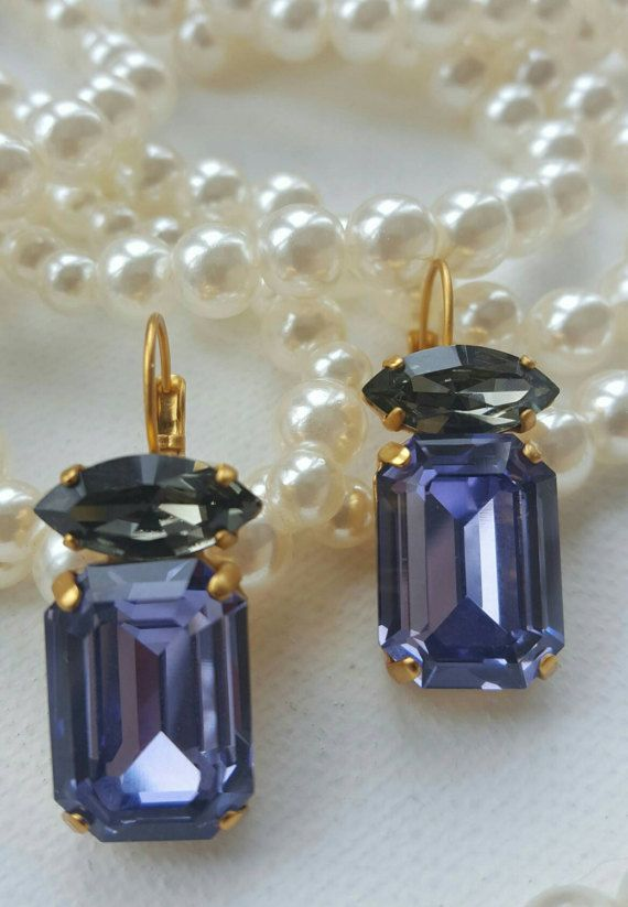 Check out this item in my Etsy shop https://www.etsy.com/ca/listing/498741648/swarovski-element-earringstanzanite