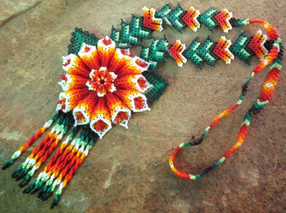 Huichol Beaded Flower Necklace,  so many beautiful things!  ;o)