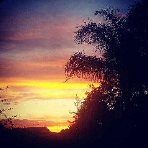 My bk yard February sunset