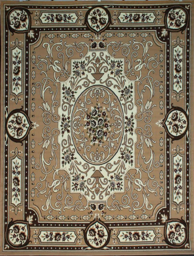 Traditional Rug 8011beige 8x11 And 6x8 Rugs
