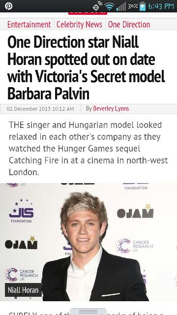I'm not ready to accept Niall dating anyone especially a Victoria Secret model.. She's 10x prettier than me and is Nialls actual age. I died inside when I read this I just wanna be his all his and call him mine. I wanna cuddle him and hold his hand and kiss him whenever I felt like it but I can't I am accepting it, he's not just another boy he's my little Nialler. - @Annabelle ♡ (give credit if you repin)