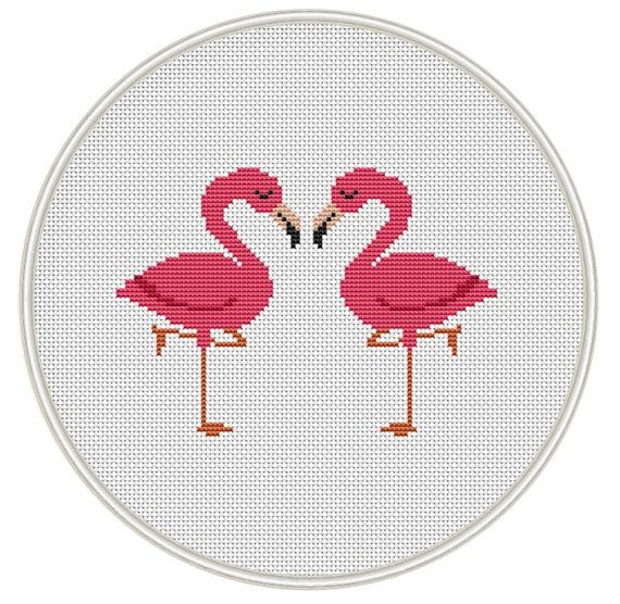 Flamingo cross stitch pattern Bird Сross by MagicCrossStitch