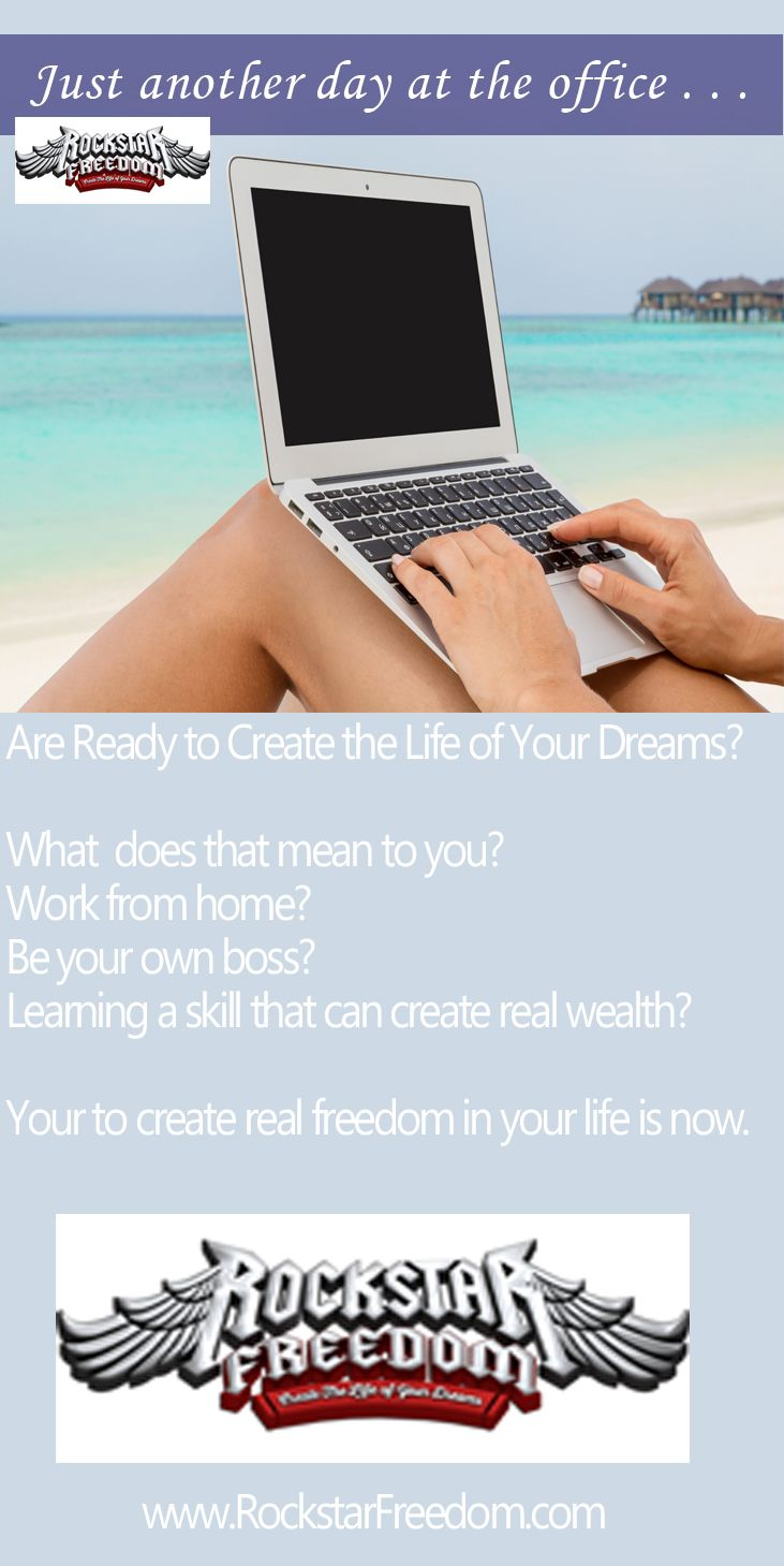 """If you are tired of trading time for dollars - in someone else's business or your own - you have probably wondered """"There has got to be a better way""""  Create the life you want. The time is now. www.rockstartfreedom.com"""