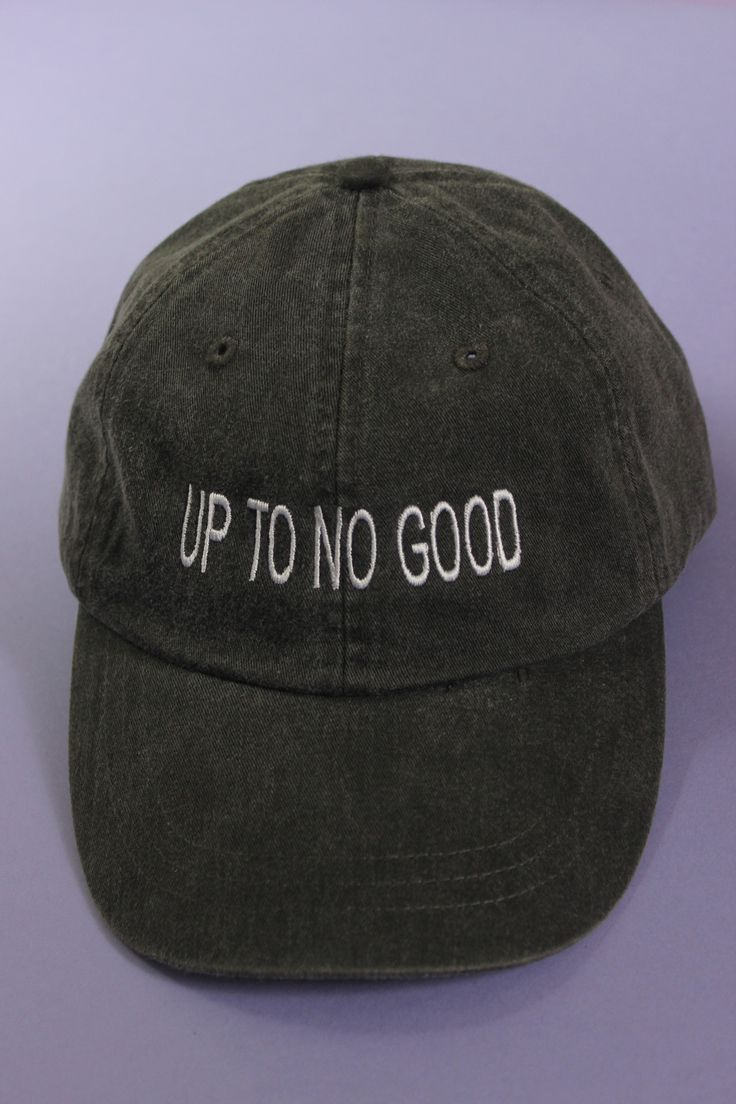 Up To No Good Black Baseball Cap