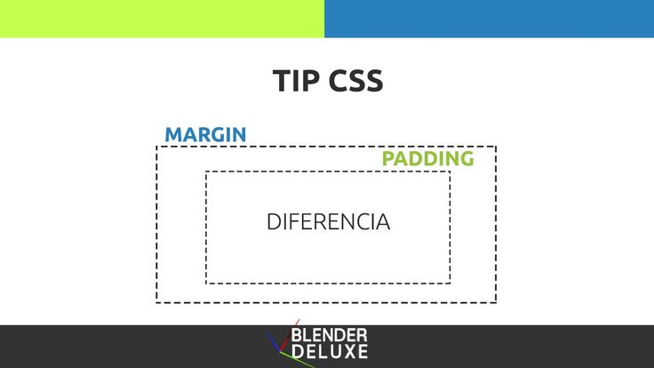 Diferencia entre margin y padding Tip CSS