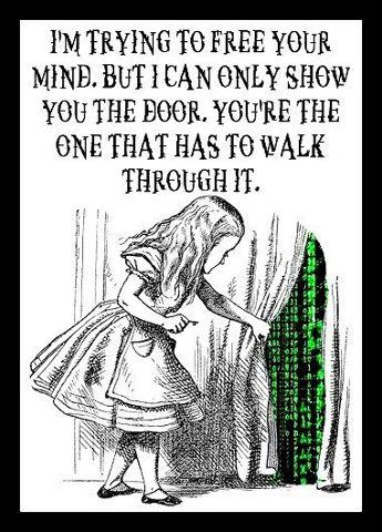 Love this! :) (Got from my couz re school, but love this for other reasons :) Love the Alice with matrix :) )