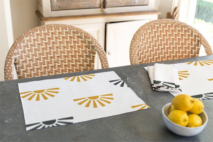 Sunrays Napkin by Gwen Bedat for Minted