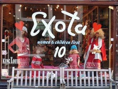 Exota: fijne winkel met King Louie jurkjes in de Negen Straatjes in Amsterdam.