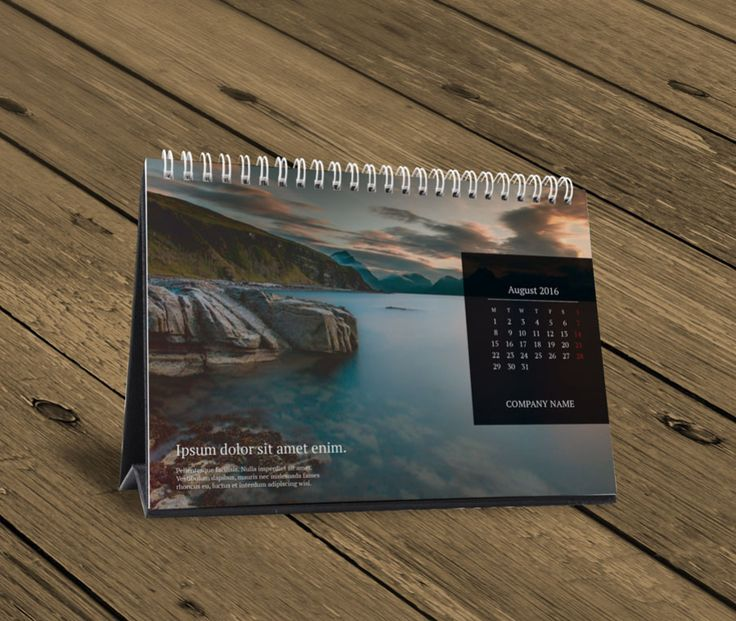 Table Calendar 2016 : Desk table calendar design template kb w a